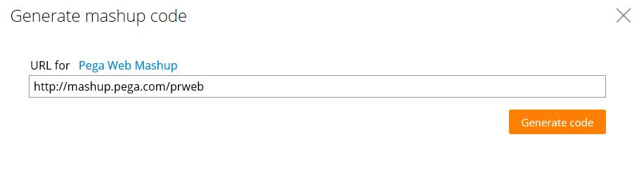 Editing the mashup code URL
